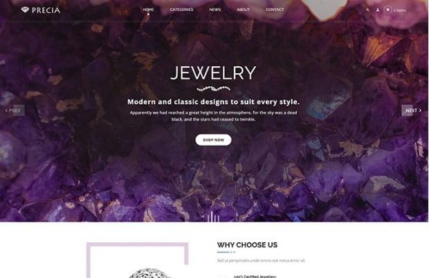 Precia - 53+ BEST Designed PSD Website Templates [year]
