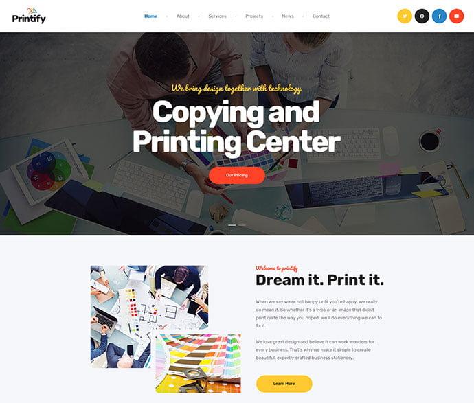 Printify - 53+ BEST Designed PSD Website Templates [year]