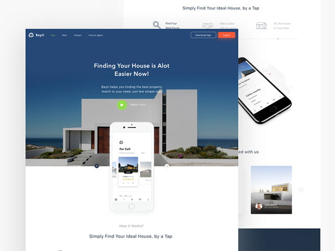 Properties-app - 53+ GREAT Architecture Website UI Designs IDEA [year]