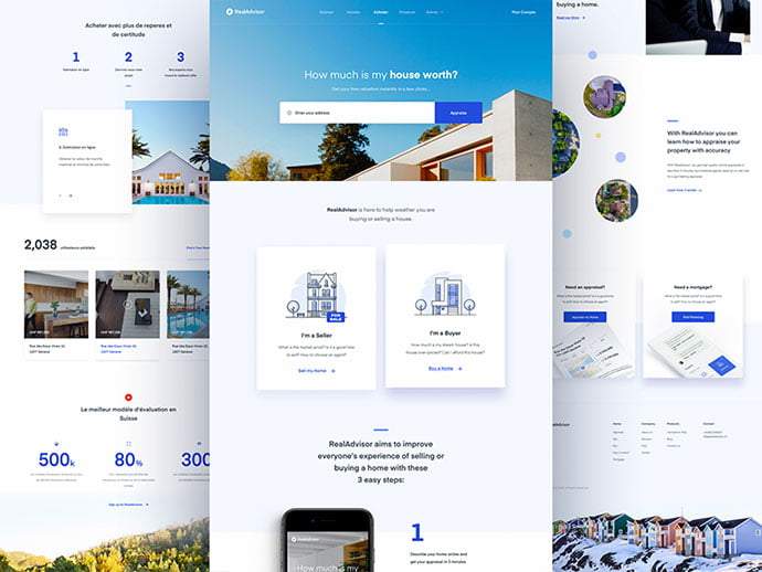 Real-Advisor - 53+ GREAT Architecture Website UI Designs IDEA [year]