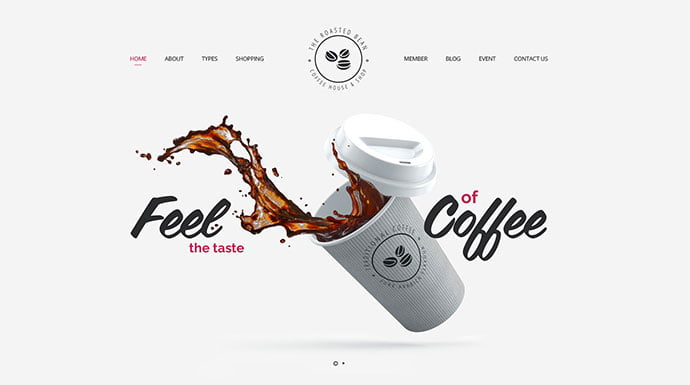 Roasted-Bean - 53+ BEST Designed PSD Website Templates [year]