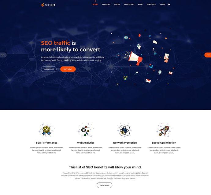 SEOKIT - 53+ BEST Designed PSD Website Templates [year]