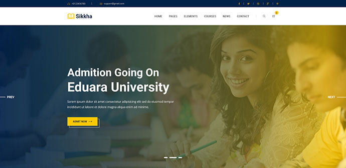 Sikkha - 53+ BEST Designed PSD Website Templates [year]