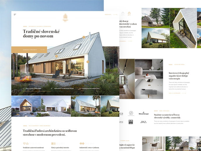 Slovak-House-landing - 53+ GREAT Architecture Website UI Designs IDEA [year]