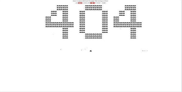 Space-Invaders-Game - 53+ BEST FREE CSS 404 Error Page IDEA [year]