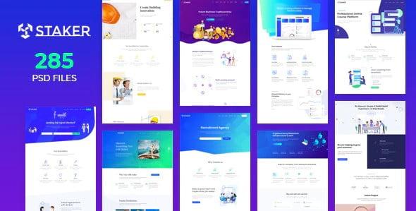 Staker - 53+ BEST Designed PSD Website Templates [year]