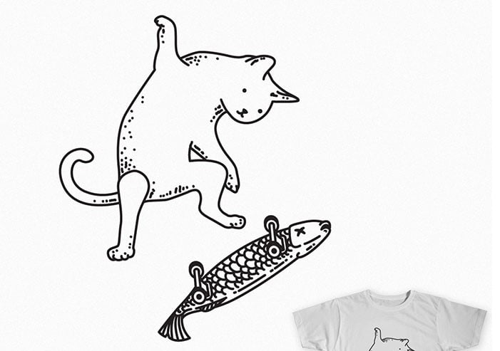 Street-cat - 35+ GREAT FREE Interesting T-shirt Designs IDEA [year]