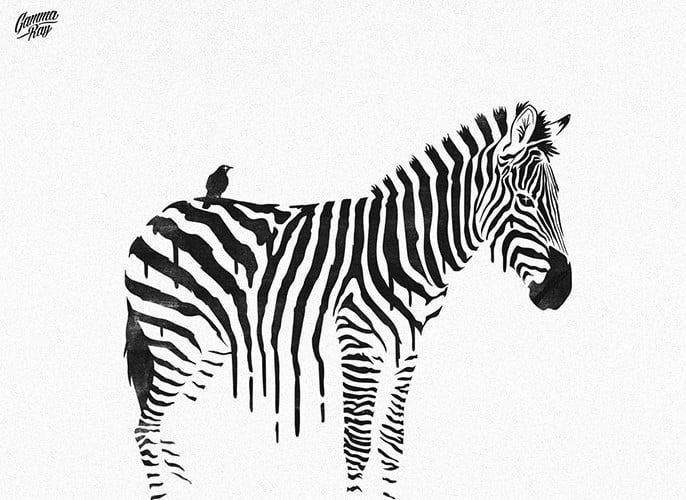 Striped-Horse - 35+ GREAT FREE Interesting T-shirt Designs IDEA [year]