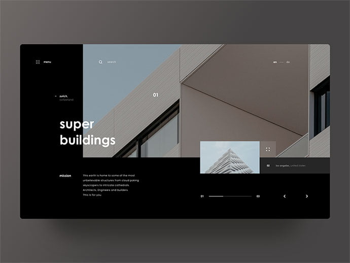 Super-Buildings - 53+ GREAT Architecture Website UI Designs IDEA [year]