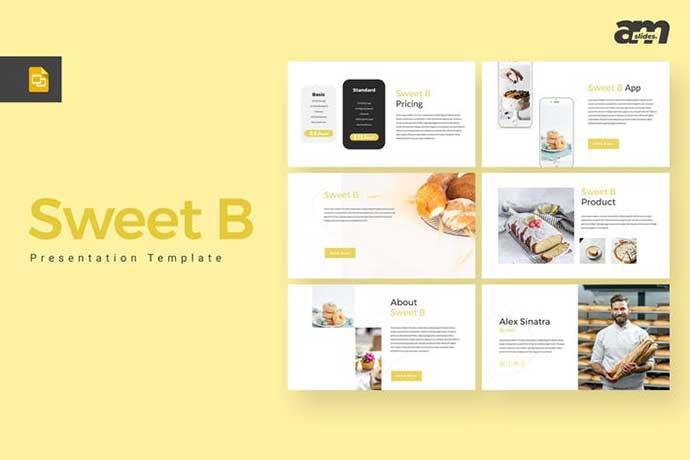 Sweet-B - 35+ BEST Google Slide Templates [year]