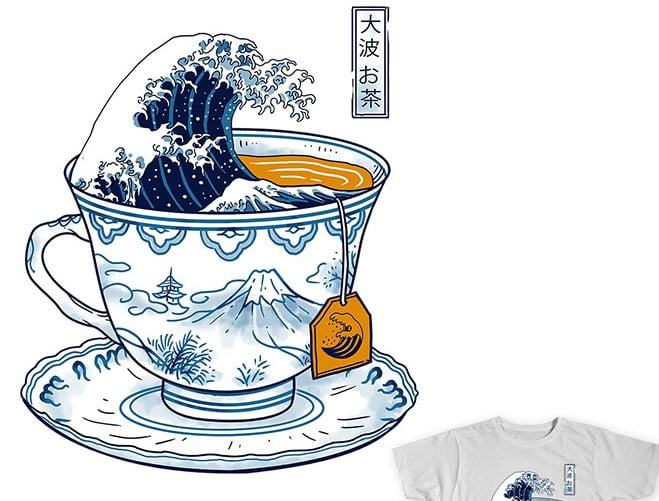 The-Great-Kanagawa-Tee - 35+ GREAT FREE Interesting T-shirt Designs IDEA [year]