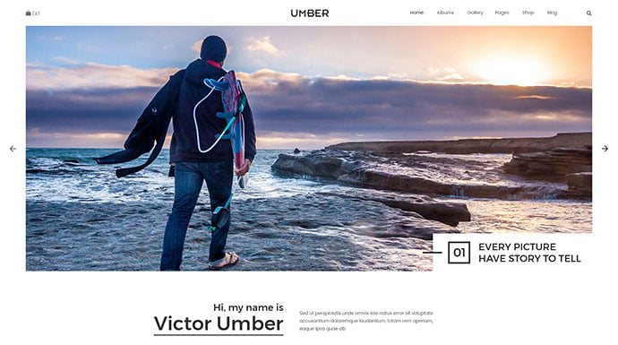 Umber-Photography - 53+ BEST Designed PSD Website Templates [year]