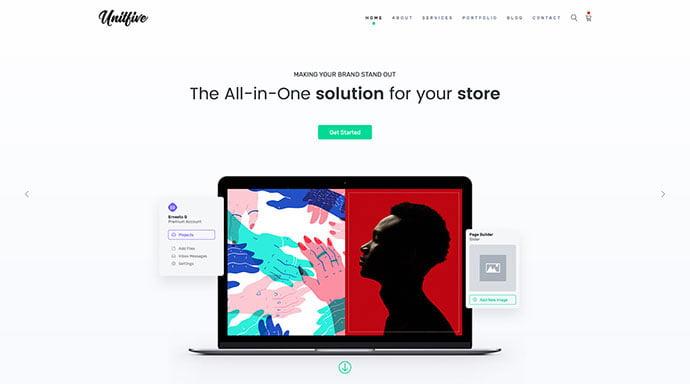 Unit-Five - 53+ BEST Designed PSD Website Templates [year]