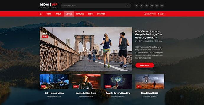VidTube - 53+ BEST Designed PSD Website Templates [year]