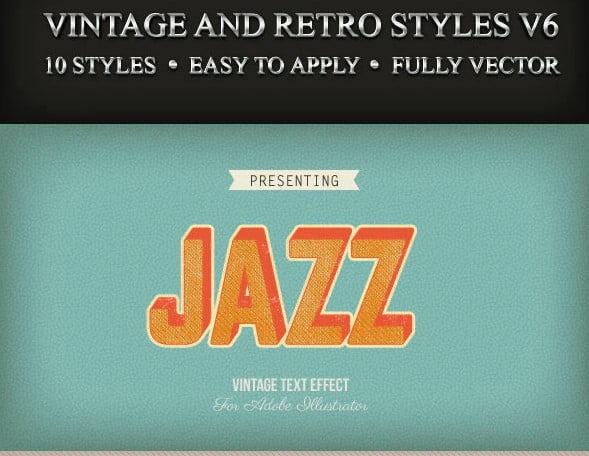 Vintage-and-Retro-Styles-V6 - 53+ FREE Timeless Vintage & Retro Typography Designs IDEA [year]