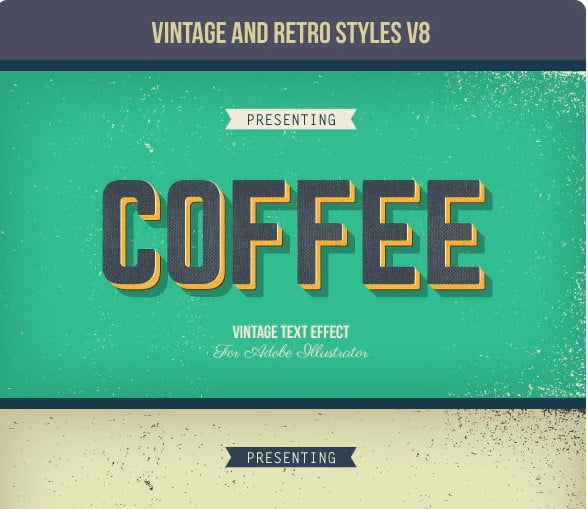 Vintage-and-Retro-Styles-V8 - 53+ FREE Timeless Vintage & Retro Typography Designs IDEA [year]