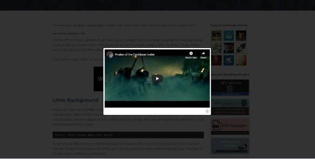 WP-Video-Lightbox - 27+ BEST Lightbox WordPress Plugins [year]