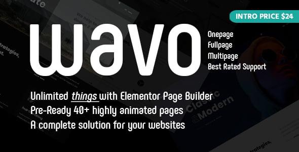 Wavo-1 - 33+ NICE Developer WordPress Portfolio Themes [year]