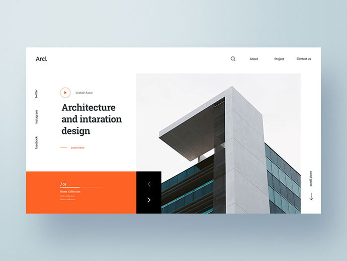 Web-Exploration - 53+ GREAT Architecture Website UI Designs IDEA [year]
