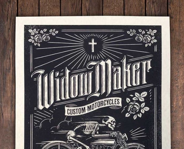 Widow-Maker-Motorcycles - 53+ FREE Timeless Vintage & Retro Typography Designs IDEA [year]