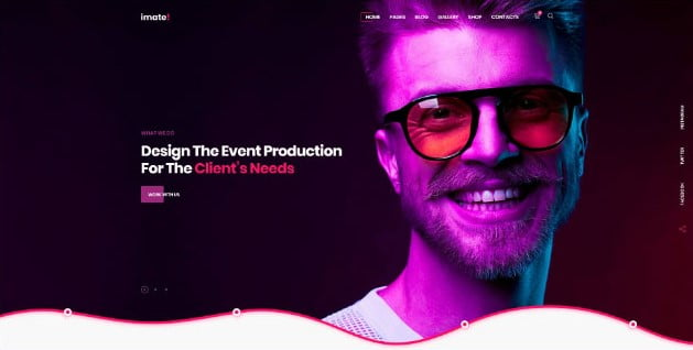 iMate - 33+ AWESOME Blob Shaped WordPress Themes [year]