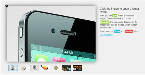 jQuery-Zoomable - 33+ 360 Degree Image and Video Viewer WordPress Plugins [year]
