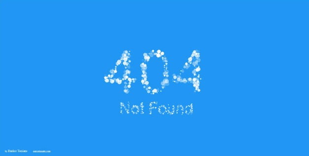 particle-text - 53+ BEST FREE CSS 404 Error Page IDEA [year]