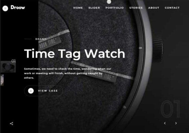 Ajax-Portfolio - 33+ COOL WordPress Portfolio Dark Themes [year]