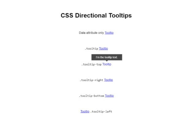 CSS-Directional - 33+ BEST FREE CSS Tooltip IDEA [year]