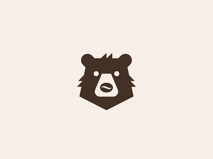 Coffee-Bear - 38+ AWESOME FREE Animal Logos Collections [year]