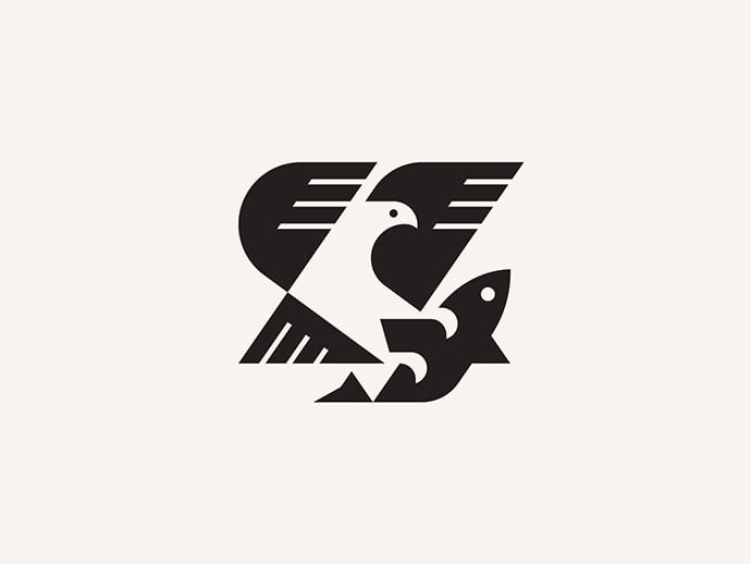 Eagle-And-Fish - 38+ AWESOME FREE Animal Logos Collections [year]