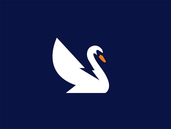 Electric-Swan - 38+ AWESOME FREE Animal Logos Collections [year]
