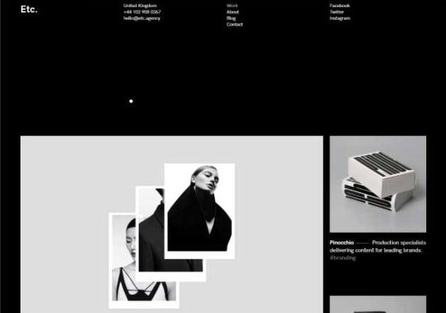 Etc. - 33+ COOL WordPress Portfolio Dark Themes [year]
