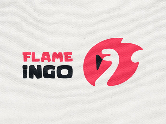 Flame-ingo - 38+ AWESOME FREE Animal Logos Collections [year]