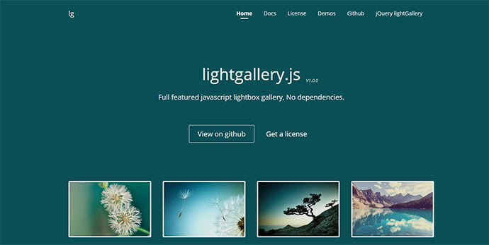 Lightgallery - 33+ FREE Web & Mobile Image Slider & Gallery Plugins [year]