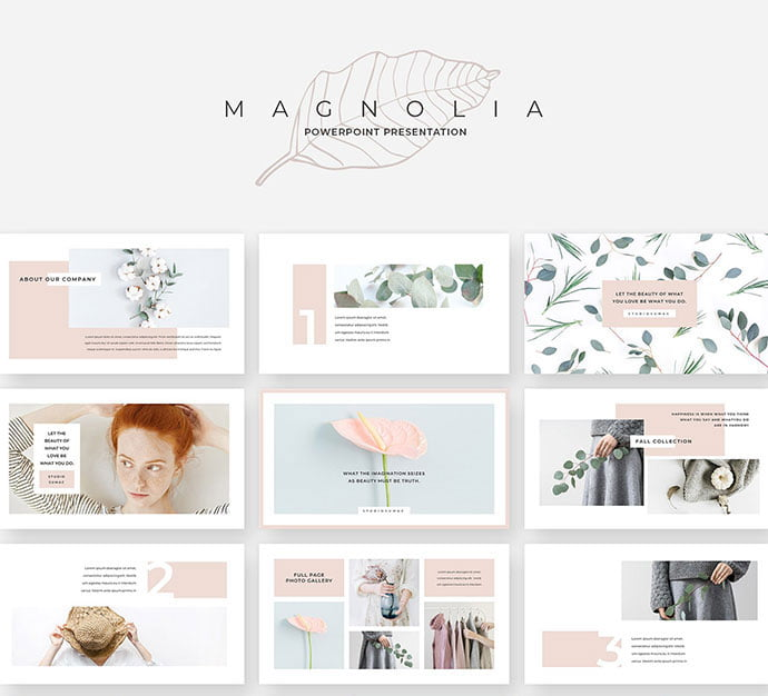 Magnolia - 39+ BEST Compelling Presentations PowerPoint Templates [year]