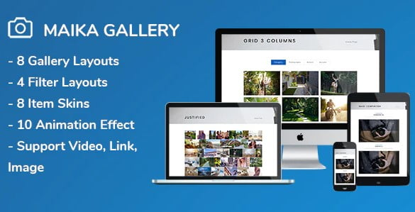 Maika - 33+ FREE Web & Mobile Image Slider & Gallery Plugins [year]