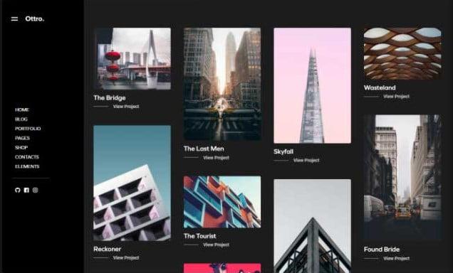 Ottro - 33+ COOL WordPress Portfolio Dark Themes [year]