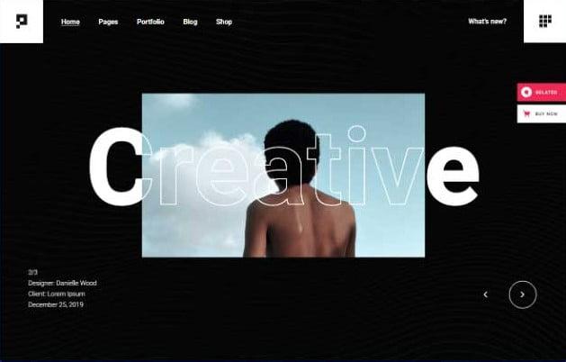 Pearce - 33+ COOL WordPress Portfolio Dark Themes [year]