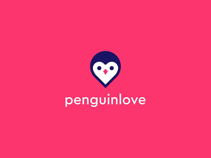 Penguinlove-2.0 - 38+ AWESOME FREE Animal Logos Collections [year]
