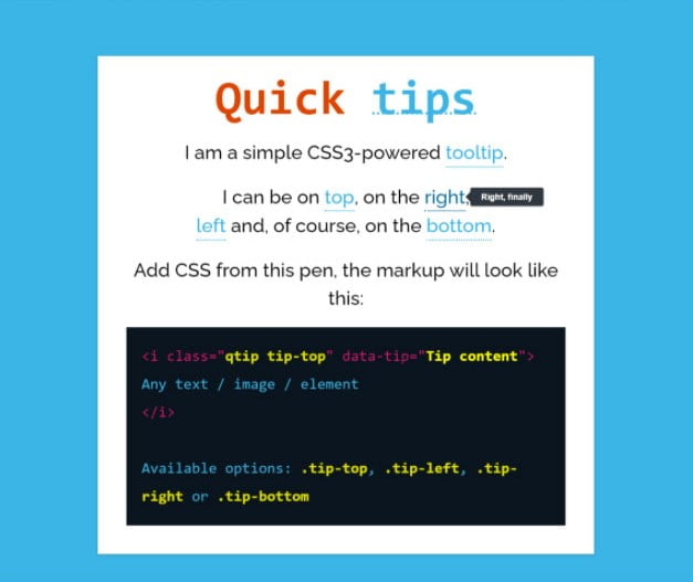 Quick-CSS3-Tooltips - 33+ BEST FREE CSS Tooltip IDEA [year]