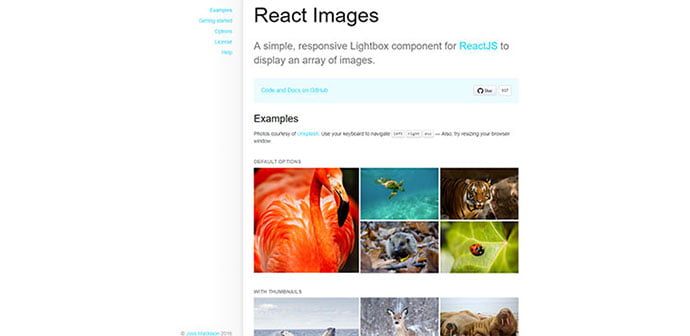 React-Images - 33+ FREE Web & Mobile Image Slider & Gallery Plugins [year]