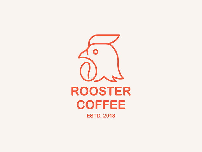 Rooster-Coffee - 38+ AWESOME FREE Animal Logos Collections [year]