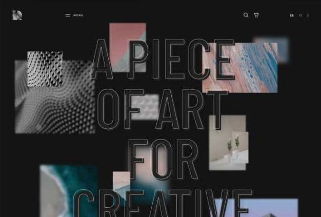 Rouben - 33+ COOL WordPress Portfolio Dark Themes [year]