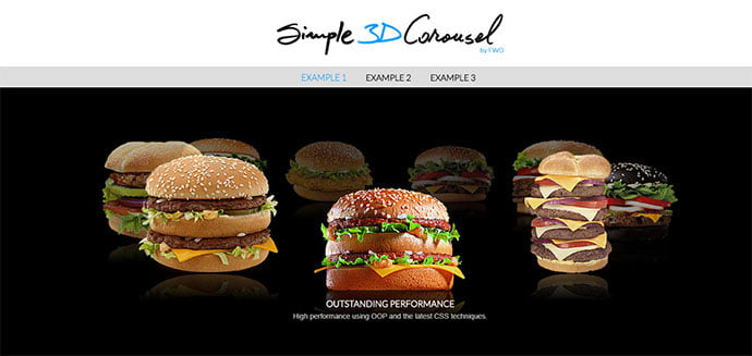 Simple-3D-Carousel - 33+ FREE Web & Mobile Image Slider & Gallery Plugins [year]