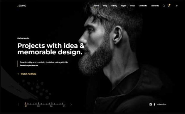 Somo - 33+ COOL WordPress Portfolio Dark Themes [year]