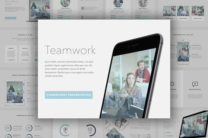 Teamwork - 39+ BEST Compelling Presentations PowerPoint Templates [year]