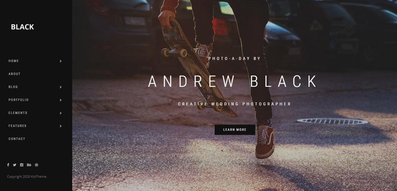 WordPress-Portfolio-Dark-Themes - 33+ COOL WordPress Portfolio Dark Themes [year]