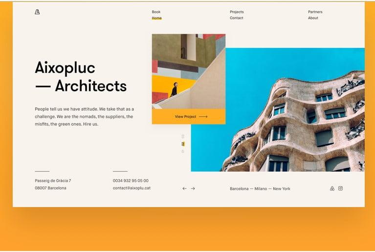 Aixopluc-Architects - 63+ BEST FREE Grid Web UI Design IDEA [year]
