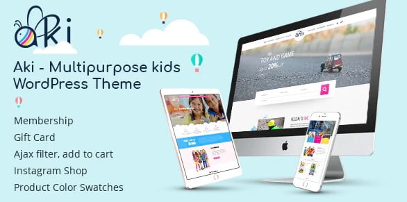 Aki - 35+ COOL Toy and Game Store WordPress Themes [year]